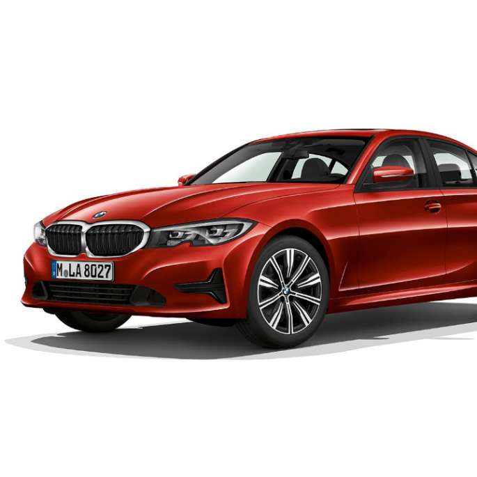 Side still shot of BMW 3 Series Sedan as Model Advantage.